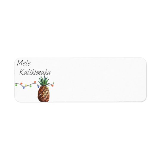 Mele Kalikimaka - Christmas Return Labels