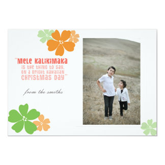 Mele Kalikimaka Hawaiian Christmas Photo Card 13 Cm X 18 Cm Invitation Card