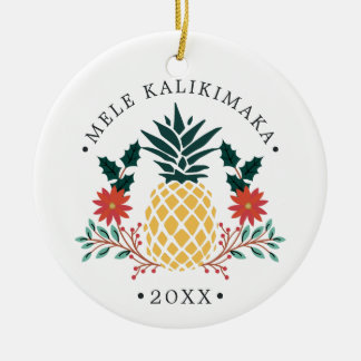 Mele Kalikimaka | Hawaiian Christmas Photo Christmas Ornament