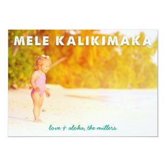 Mele Kalikimaka   Hawaiian Holiday Photo Card 13 Cm X 18 Cm Invitation Card