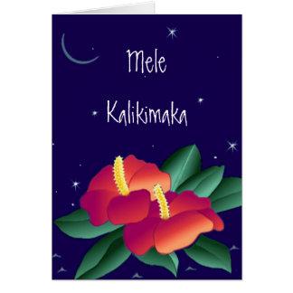 Mele Kalikimaka Merry Christmas Hawaiian Card