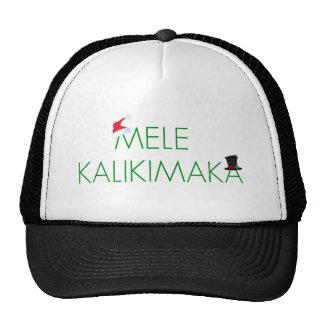 """MELE KALIKIMAKA    """"MERRY CHRISTMAS"""" IN HAWAIIAN! TRUCKER HATS"""