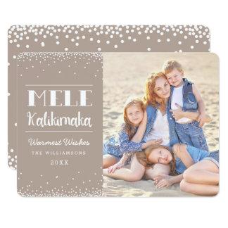 Mele Kalikimaka Photo Holiday Card