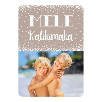 Mele Kalikimaka Photo Holiday Flat Card