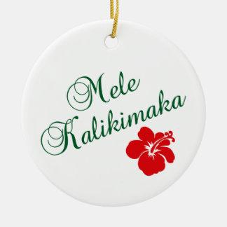 Mele Kalikimaka Round Ceramic Decoration