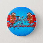 Mele Kalikimaka Tiki 6 Cm Round Badge