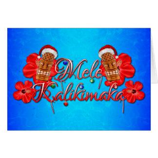 Mele Kalikimaka Tiki Card