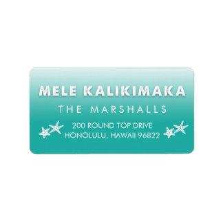 Mele Kalikimaka Tropical Hawaiian Christmas Return Address Label