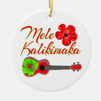 Mele Kalikimaka Ukulele Christmas Ornament