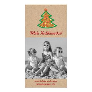 Mele Kalimaka Hibiscus Christmas Tree Photo Card