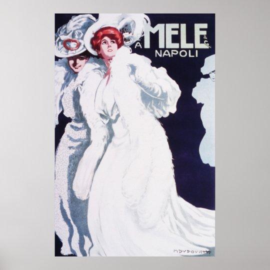 Mele Napoli Art Nouveau Poster