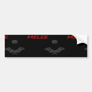Melee clothing bumper sticker