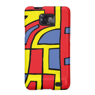 Melen Abstract Expression Yellow Red Blue Samsung Galaxy S2 Cover