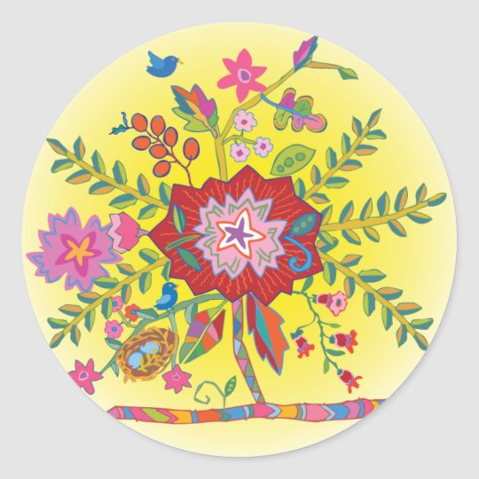 'Melinda' Classic Round Sticker