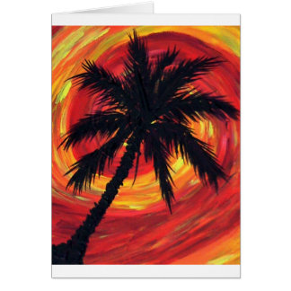 melindas stormy palm greeting card
