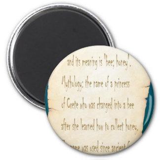 Melissa 6 Cm Round Magnet