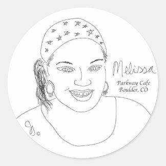 Melissa Round Sticker
