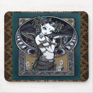 """Melita"" Goth Tribal Fusion Dancer Angel Mousepad"