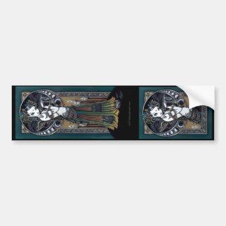 """Melita"" Goth Tribal Fusion Dancer Angel Stickers Bumper Sticker"