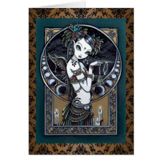 """Melita"" Gothic Tribal Fusion Dancer Art Card"