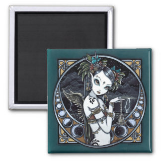 """Melita"" Gothic Tribal Fusion Dancer Art Magnet"