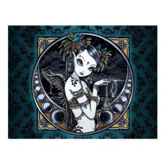 """Melita"" Gothic Tribal Fusion Dancer Art Postcard"