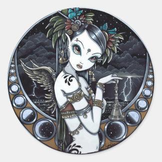 """Melita"" Gothic Tribal Fusion Dancer Art Stickers"