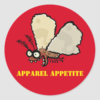 Melli, the mean moth round sticker