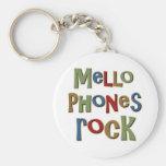 Mellophones Rock Basic Round Button Key Ring