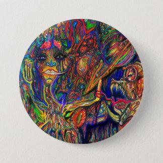 Mellow Hippo Disco 7.5 Cm Round Badge