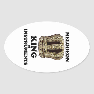 Melodeon King of Instruments Oval Sticker