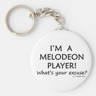 Melodeon Player Excuse Basic Round Button Key Ring