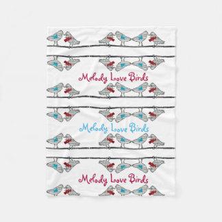 Melody Love Birds - Fleece Blanket