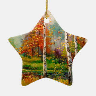 Melody of autumn christmas ornament