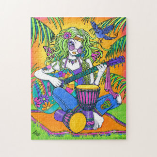 """Melody"" Rainbow Guitar Hippie Fairy Puzzle"