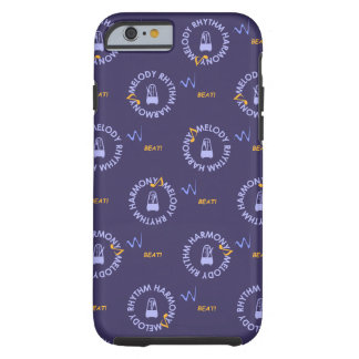 MELODY RHYTHM HARMONY (blue background color Tough iPhone 6 Case