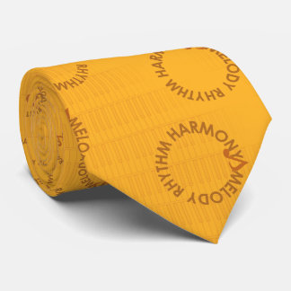 MELODY RHYTHM HARMONY (brown diacritic accent) Tie