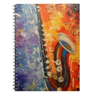 Melody saxophone spiral notebook