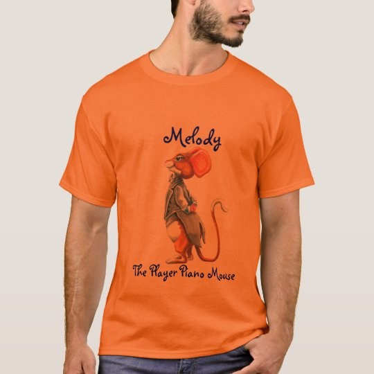 Melody The Player Piano Mouse - Customised T-Shirt