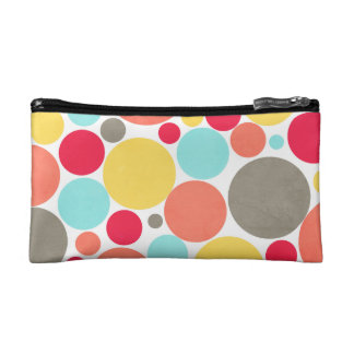 Melon, Blue, Yellow, Pink, Grey Polka Dotted Bag