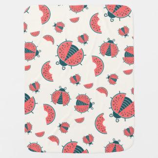 Melon Bugs Receiving Blanket