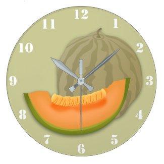 MELON CANTALOUPE Wall Clock