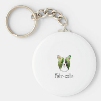 melon collie basic round button key ring