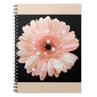 Melon Daisy Sparkle Notebook