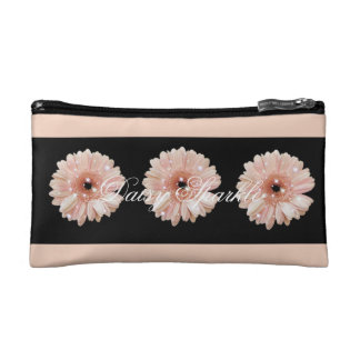 Melon Daisy Sparkle Small Cosmetic Bag