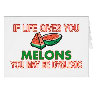 Melon Dyslexia Greeting Card