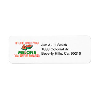 Melon Dyslexia Return Address Label
