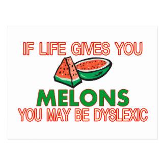 Melon Dyslexia Postcard