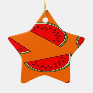 Melon fruit pattern ceramic star decoration