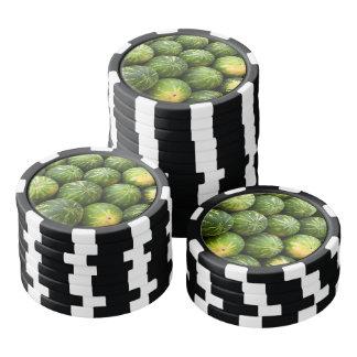 Melon fruit pattern poker chip set